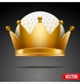 Background of golf ball with royal crown vector