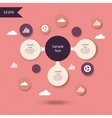Colorful metaball round diagram vector