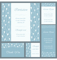 Wedding or invitation card set vector