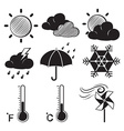 Different weather conditions vector
