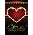 Background for valentine's card vector