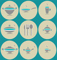 Seamless background with kitchen accessories vector
