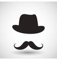 Hipster mustache vector