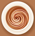 Mixed cream in a bowl vector