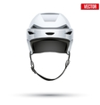 Classic white hockey helmet isolated on background vector