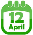 Icon of easter calendar vector