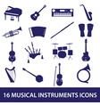 Musical instruments icon set eps10 vector