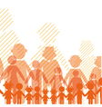 Icon crowd people vector