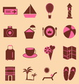 Holiday color icons on light background vector
