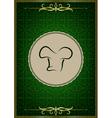 Green abstract restaurant menu cover vector