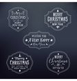 Vintage typography christmas badges set vector