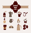 Coffee icons hand-drawing sketch vector