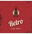 Retro space rocket template theme vector