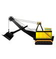 Mining excavator vector