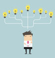 Businessman many idea to success concept vector