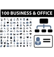 100 business  office signs vector