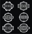 Vintage grunge brand label vector