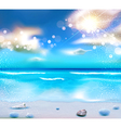 Evening seascape with clouds vector