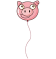 A pig balloon vector