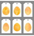 Set of tags for easter watercolor silhouettes eggs vector