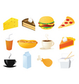 Foods and snacks vector