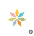 Abstract geometric seven rhombus leaf flower logo vector