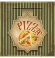 Vintage card menu - pizza label vector