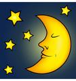 Bright moon and stars vector