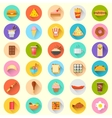 Fast food icon vector