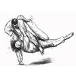 Judo - hand drawn converted into vector