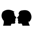 Couple silhouette man and woman vector