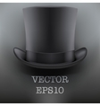 Black gentleman hat cylinder background vector