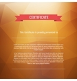 Certificate background modern flat style vector