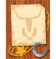 Cowboy elements scroll vector