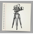 Old doodle hand-drawn camera vector