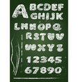 Abc - english alphabet written on a blackboard vector