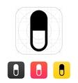 Pill capsule icon vector