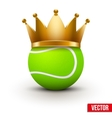 Tennis ball with royal crown vector