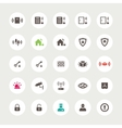 Set of flat secure icons vector