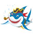 Shark pirate vector