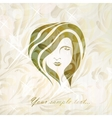 Beautiful girl face on background vector