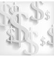 White dollar symbols on white background vector