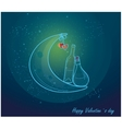 Romantic valentine card with love vector