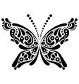 Beautiful butterfly tattoo vector