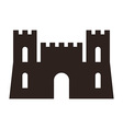 Castle icon vector