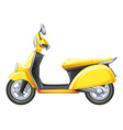 A yellow scooter vector