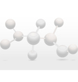 3d molecular structure vector