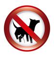 Forbidden dog design vector