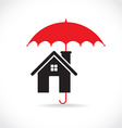 House with umbrella vector