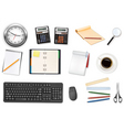 Mega office supplies set vector